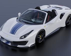 Ferrari 488 Pista Spider 2019 3D asset