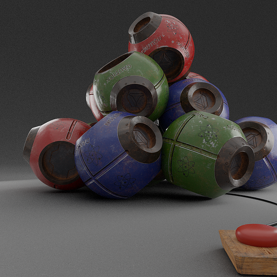 Scifi Sphere Bombs