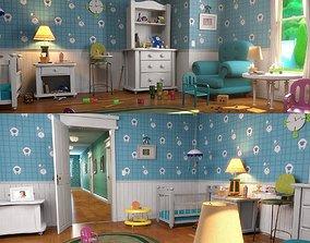 Cartoon Bedroom02 3D model