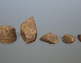 3D model VR / AR ready desert rocks sand