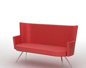 Red 1960 s Sofa 3D model