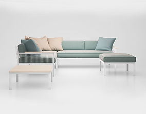 Breeze Modular outdoor lounge setting by Tait 3D