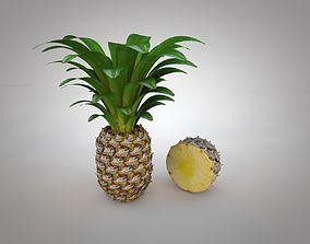 3D Pineapple half