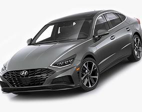 3D model Hyundai Sonata US 2020