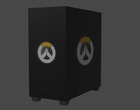 Ultra Low Poly NZXT H500i OverWatch Edition Pc 3D model 2
