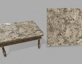Table 3D asset game-ready furniture retro