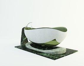Bathroom design bathtub 3d model