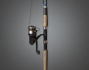 Fishing Pole TLS - PBR Game Ready 3D asset