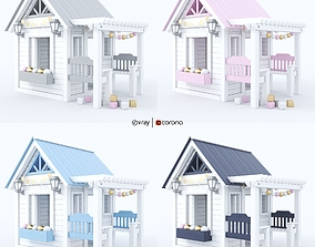 3D model Playhouse - Wendy house for children