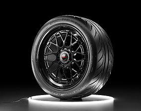 Car wheel NEXEN NFERA SUR4G tire with Rotiform 3D asset 1