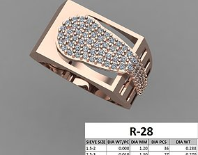 gem rings Male ring 3dm stl detail