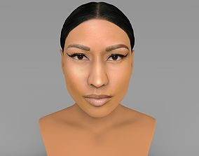 Nicki Minaj bust ready for full color 3D printing