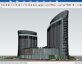 3D Sketchup hotel building G4