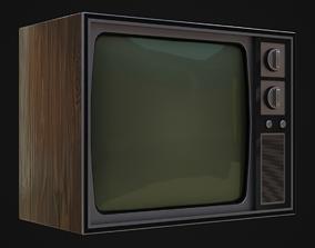 3D asset Old 60s Tv