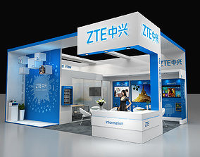 Electronic exhibition stand 3d model 8x6mtr 3sides open