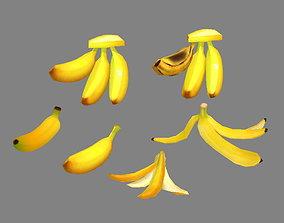 3D asset Cartoon Fruits -Bananas - Banana Peel