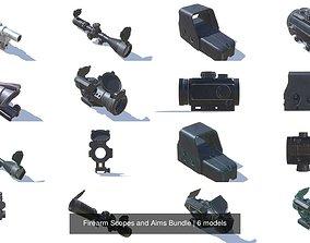 3D model Firearm Scopes and Aims Bundle