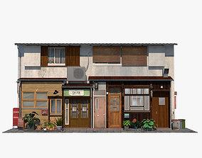 3D model game-ready Kagurazaka Cafe