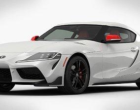 Toyota Supra GR 2020 Detailed Interior 3D model