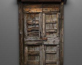 Old wooden door rust and patina 3D asset