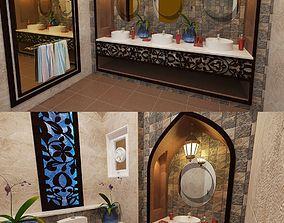 3D model washroom Bathroom Washroom