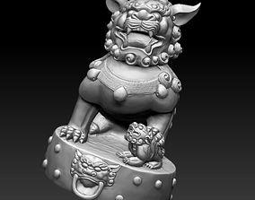 3D model guardian lion