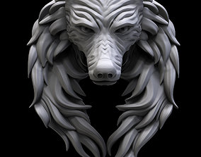 WOLF NECKLACE jewellery 3D printable model