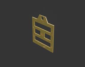 rgd li trigram pendant mk3 3D print model