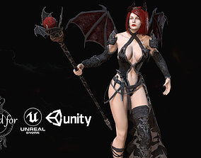 3D model animated game-ready Succubus