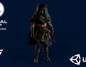 rigged Viking Berserker - Game Ready Low-poly 3D