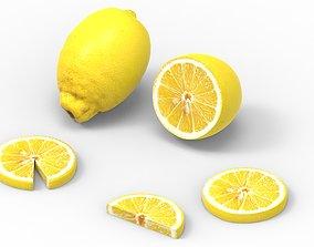 3D asset game-ready citrus lemon