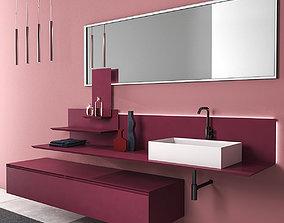 Bathroom furniture set Arcom Moov 3D model