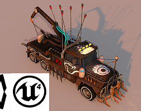 Small Battle Truck 3D asset