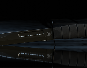 3D asset realtime Army knife model with subdivisions