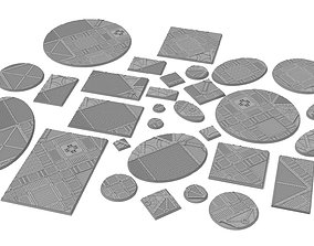 x1000 Round Oval Square Rectangular 3D printable model 2