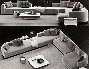 3D model Minotti Alexander Sofa 4