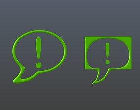 3D model Communication Technology Icons 1