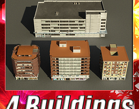 Building Collection 1-4 3D model