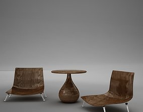 table chairs tropical 3D model