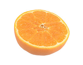 Photorealistic Orange Half 3D Scan