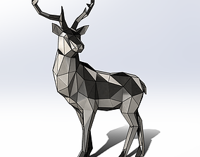Polygon model Sheet metal Deer met 2000x1560x650mm 3D