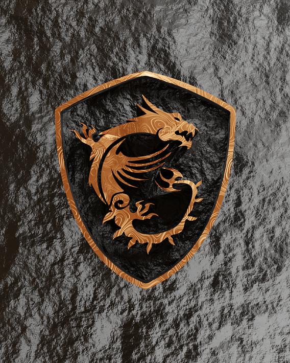 3D MSI logo renders