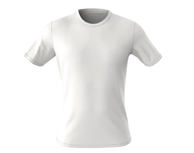 3D male t-shirt with stitches