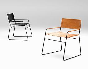 3D Barnaby Lane Oxford lounge armchair