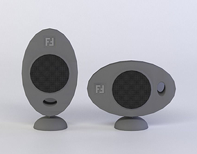 low-poly HOME CINEMA C01 3D MODEL