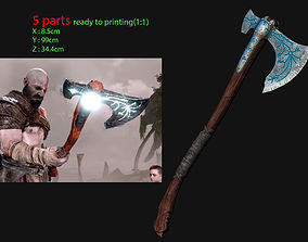 3D printable model weapon Kratos - Leviathan Axe - God 2