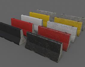 3D model PBR Concrete Barrier V5