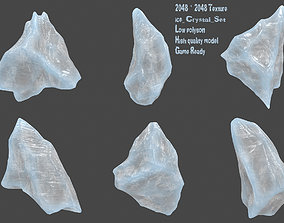 ice crystal set 3D asset