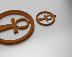 Glass Coaster Ankh and Pendant 3D print model