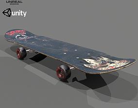 3D asset game-ready Skateboard